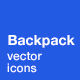 Backpack Icons - GraphicRiver Item for Sale