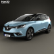 Renault Grand Scenic Dynamique S Nav 2017 - 3DOcean Item for Sale