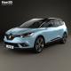 Renault Grand Scenic Dynamique S Nav 2017 - 3DOcean Item for Sale