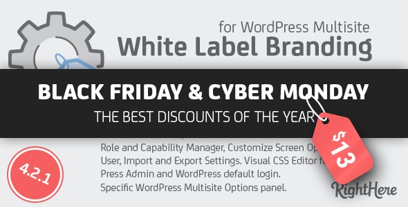 White Label Branding for WordPress Multisite - CodeCanyon Item for Sale