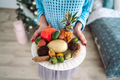 Fruit on a plate in the hands - PhotoDune Item for Sale