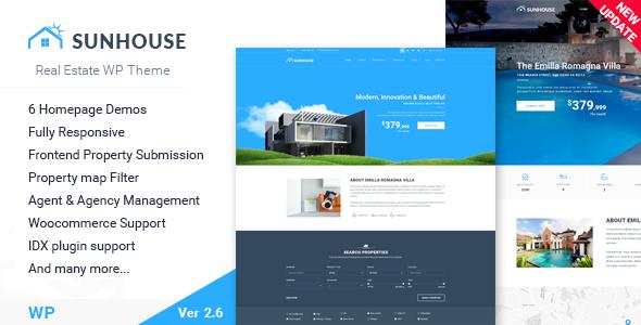 Real Estate WordPress | Sun House Real Estate WP - Real Estate WordPress