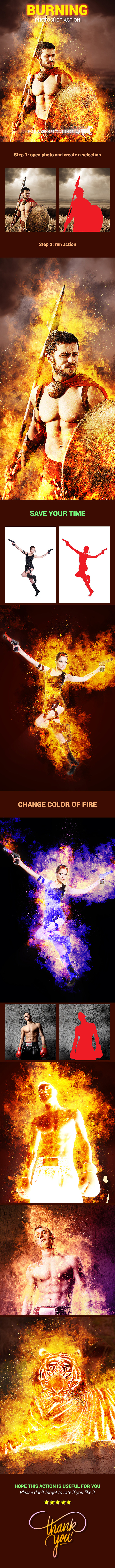 Burning - Photo Effects Actions