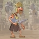 Cartoon Man in Gladiator Clothes - GraphicRiver Item for Sale