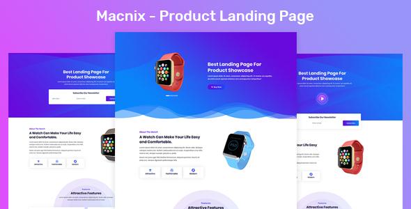 Macnix - Product Landing Page - Marketing Corporate