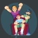 Cartoon Young People Play Video Games - GraphicRiver Item for Sale