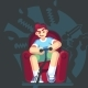 Gamer Playing Video Game - GraphicRiver Item for Sale