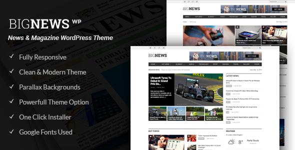 Big News - Newspaper WordPress Theme (News, Magazine, Blog) - Blog / Magazine WordPress