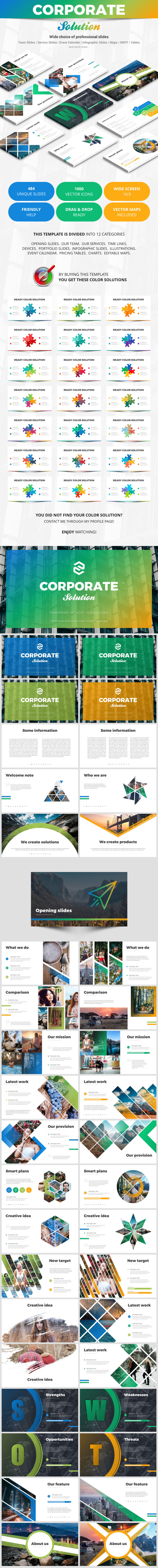 Corporate Solution - Business PowerPoint Templates