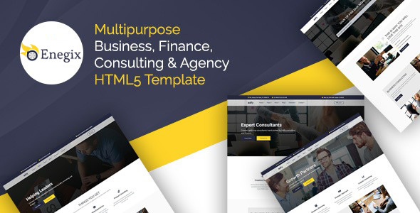 Enegix - Multipurpose Business, Finance, Consultaing & Agency Web Template