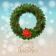 White Card with Christmas Wreath - GraphicRiver Item for Sale