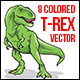Tyrannosaurus Rex Colored Vector - GraphicRiver Item for Sale