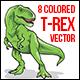 Tyrannosaurus Rex Colored Vector - GraphicRiver Item for Sale