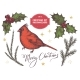 Vector Collection of Colored Cardinal and Holly - GraphicRiver Item for Sale