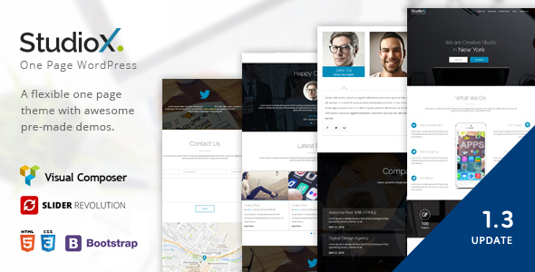 StudioX - One Page WordPress