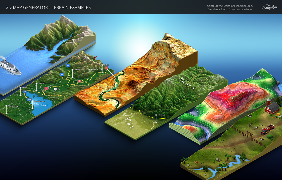 3D Map Generator - Terrain from Heightmap