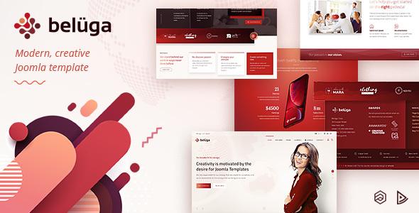 Beluga - Modern Clean Creative Joomla Template - Business Corporate