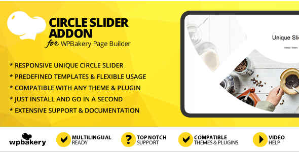 Circle Slider Addon for WPBakery Page Builder (formerly Visual Composer) - CodeCanyon Item for Sale