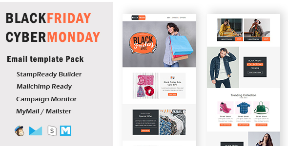 BlackFriday - Multipurpose Responsive Email Template With Mailchimp Editor & Online StampReady Build