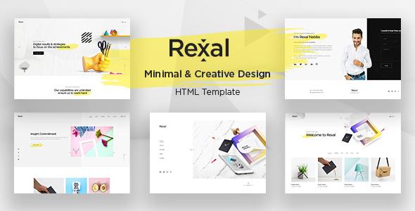 Rexal - A Colorful and Modern Multipurpose Portfolio Template