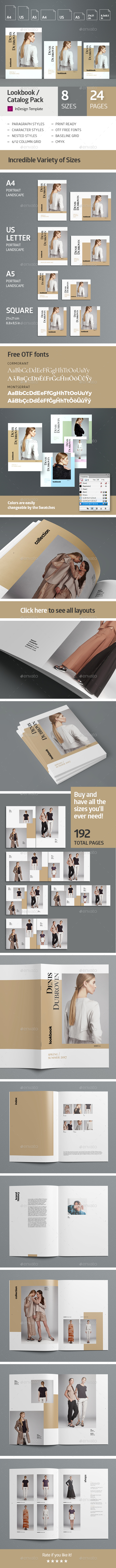 Multisize Lookbook / Catalog Pack - Catalogs Brochures