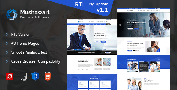 Mushawart-Business, Consulting and Professional Services HTML Template