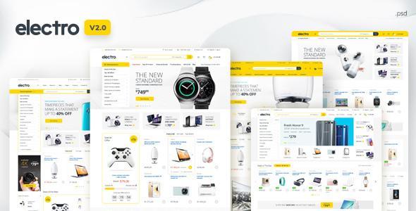 Electro - Electronics eCommerce PSD - Retail PSD Templates