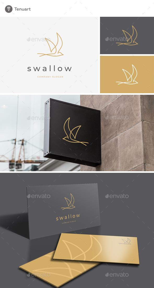 Swallow Logo - Animals Logo Templates