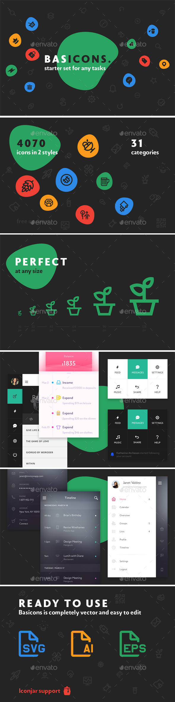 Basicons — 4070 Line and Solid Icons - Web Icons
