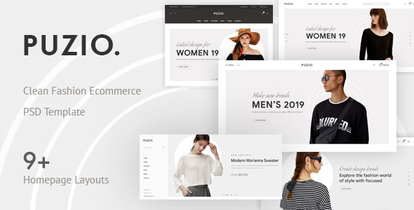 Puzio - Creative eCommerce PSD Template