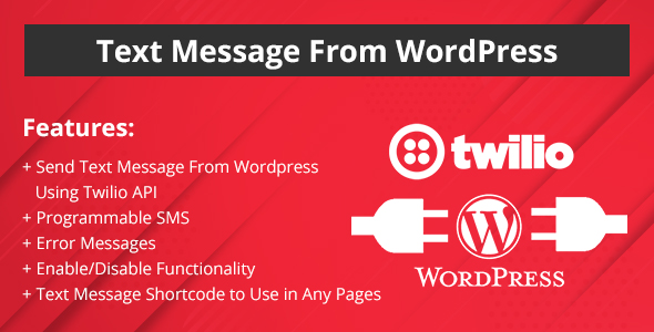 Text Message from WordPress Website - CodeCanyon Item for Sale