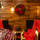 Cozy Christmas chiars in beautiful home with beautiful Christmas lights - PhotoDune Item for Sale