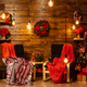 Christmas home design with beautiful christmas tree - PhotoDune Item for Sale