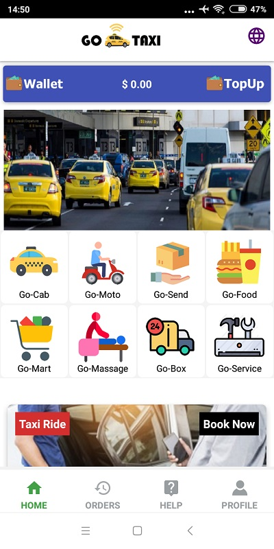 GoTaxi App - On Demand All in One App Services Android