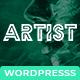 Artist Wordpress Theme - Painter Exhibition Sketch Handcraft Writer Art Pencil Design ShowCase - ThemeForest Item for Sale