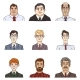 Vector Set of Business Avatars - GraphicRiver Item for Sale