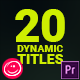 Dynamic Titles For Premiere Pro - VideoHive Item for Sale