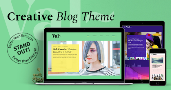 Val Blog – Creative Blog Theme