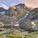 Sunlight Illuminates Mountain Ridge  - PhotoDune Item for Sale