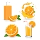 Orange Juice Splashes - GraphicRiver Item for Sale
