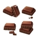 Chocolate Pieces Realistic Illustration - GraphicRiver Item for Sale