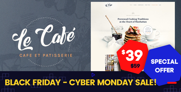 Le Cafe - Bakery & Cafe WordPress Theme - Restaurants & Cafes Entertainment