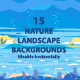 Nature Landscape Backgrounds Set - GraphicRiver Item for Sale