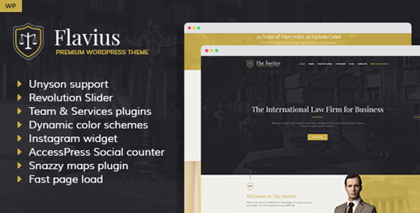Flavius - Lawyer and Attorney WordPress Theme