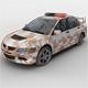 Destroyed Police Car - 3DOcean Item for Sale