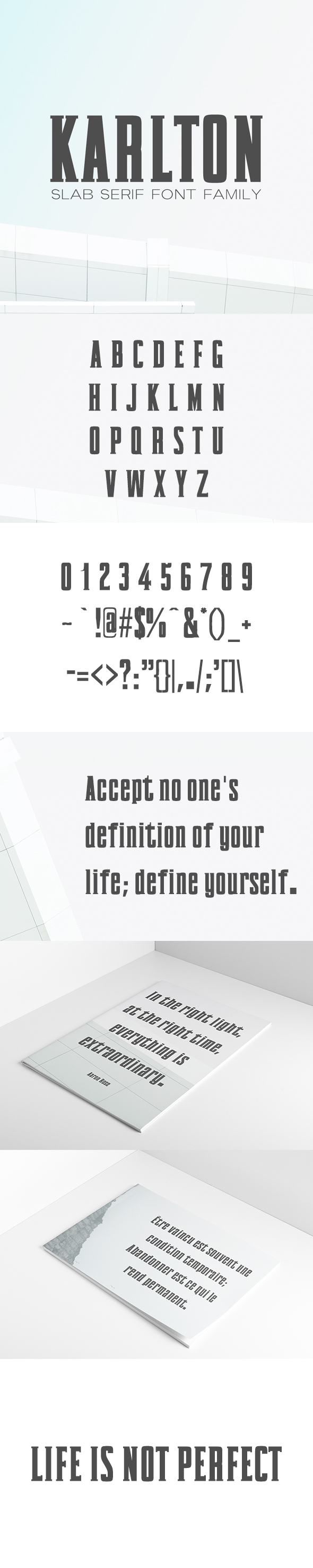 Karlton Slab Serif Font Family - Sans-Serif Fonts