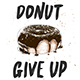 Donut give up with engraved doughnut - GraphicRiver Item for Sale