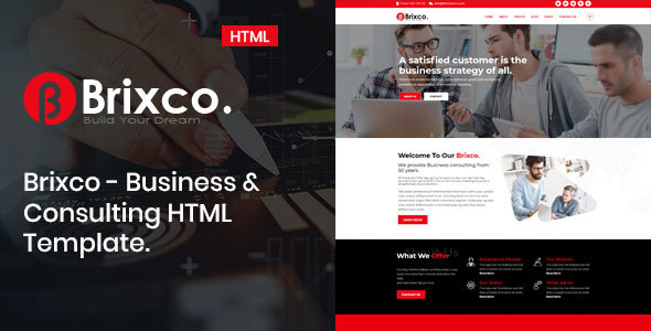 Incredible Brixco – Business &  Consulting  HTML Template