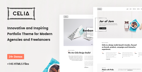 Celia - Innovative and Inspiring Portfolio HTML5 Template for Modern Agencies and Freelancers