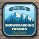 Snowboard Club Patches - GraphicRiver Item for Sale